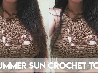 DIY SUMMER SUN CROCHET CROP TOP PART 2