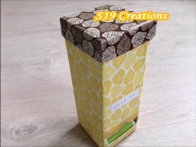 Diy Tea Bag Dispenser | best out of waste | recycling crafts | how to make tea bag holder