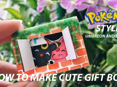 DIY | UMBREON + ESPEON | How To Make Cute Gift Box - Step by Step | Pokemon Style #3