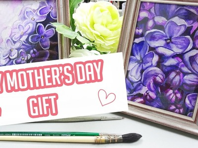 DIY Watercolor Painting - Mother's Day Gift Idea!
