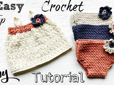 Easy  Newborn Baby Crochet Top Tutorial