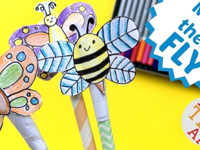 Easy Shooter Toy DIY   Spring Bee Paper Toy DIY   Collab with Doodles by Sarah