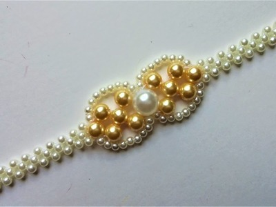Elegant Beads Bracelet. DIY project for beginners