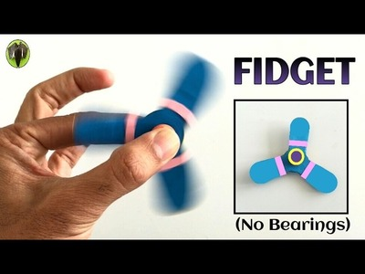 Fidget Spinner without Bearing  - Handmade | DIY Tutorial by Paper Folds - 707