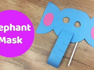 Fun and simple DIY for kids Elephant Mask with blowing trunk