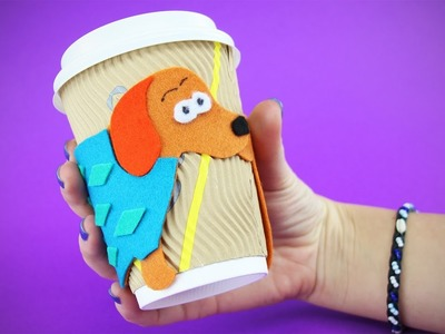 Funny Sausage Dog Cup Cozy DIY from Felt | Cute Tutorial for Teacup or Coffee