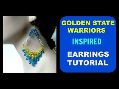GOLDEN STATE WARRIORS INSPIRED BEADED CHAINMAILLE EARRINGS TUTORIAL   DIY   STEP-BY-STEP