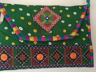 Handcrafted  Side Bag.Diy.Three Pocket Bag.How to Make at Home.Hindi.Magical Hangs