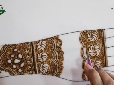 Highly requested kashee inspired simple semi bridal DIY henna design :Bridal episode 24