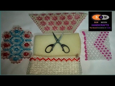 How to attach foam,cloth and chain inside the beaded bag.purse.cloth's bag