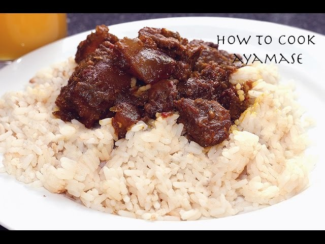 How to cook Aya Mase Stew (Green Pepper Stew)