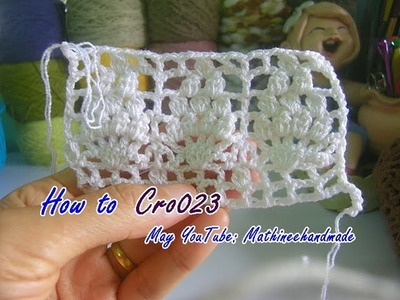 How to Cro023 Crochet pattern. ถักผังลายโครเชต์ _ Mathineehandmade