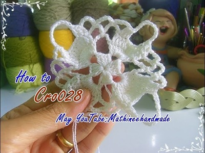 How to Cro028 Crochet pattern. ถักผังลายโครเชต์ ลายสี่เหลี่ยม _ Mathineehandmade