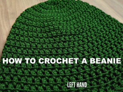 How to crochet a beanie left handed