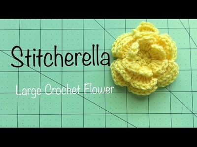 How to Crochet a Large Flower