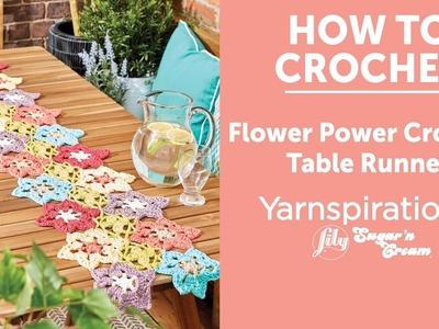 How to Crochet a Table Runner: Flower Power Crochet Table Runner