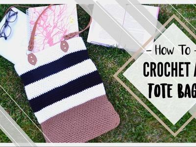 How To Crochet a Tote Bag | MissCraftNerd