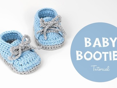 How To Crochet Cute And Easy Baby Booties. Baby Sneakers | Croby Patterns