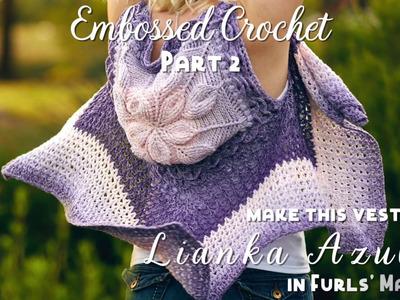 How to Crochet: Embossed Crochet Part 2 [Embossed Crochet Flower Tutorial]