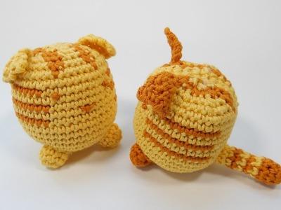 How to Crochet my Cube Cat - Tabby