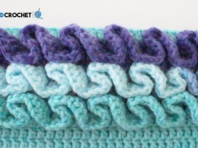 How to Crochet Ruffles Left Handed