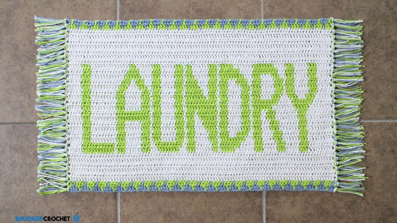 How To Crochet: Tapestry Crochet Laundry Rug