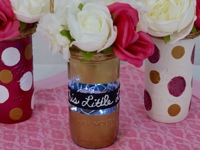 How To DIY Tutorial: This Little Light Mason Jar Baby Shower Centerpiece!