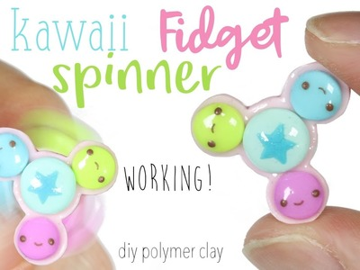 How to DIY Working Fidget Spinner (No Bearings) Polymer Clay Tutorial