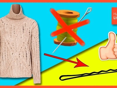 How to FIX a SWEATER with a HAIRPIN * Cómo ARREGLAR un JERSEY con una HORQUILLA ✅  Top Tips & Tricks