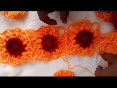 How to join wool flower