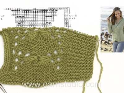 How to knit A.1 and A.2 for the jacket in DROPS 175-25