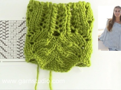 How to knit A.1 and A.3 in DROPS 153-30