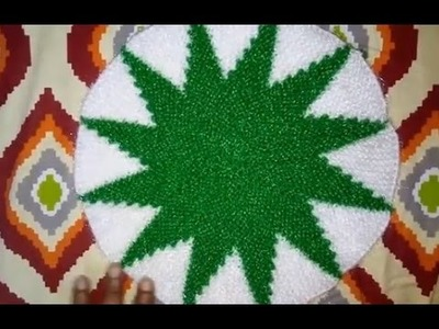 How to Knit a Two Color Thalposh.Mat(Design-2)|Hindi