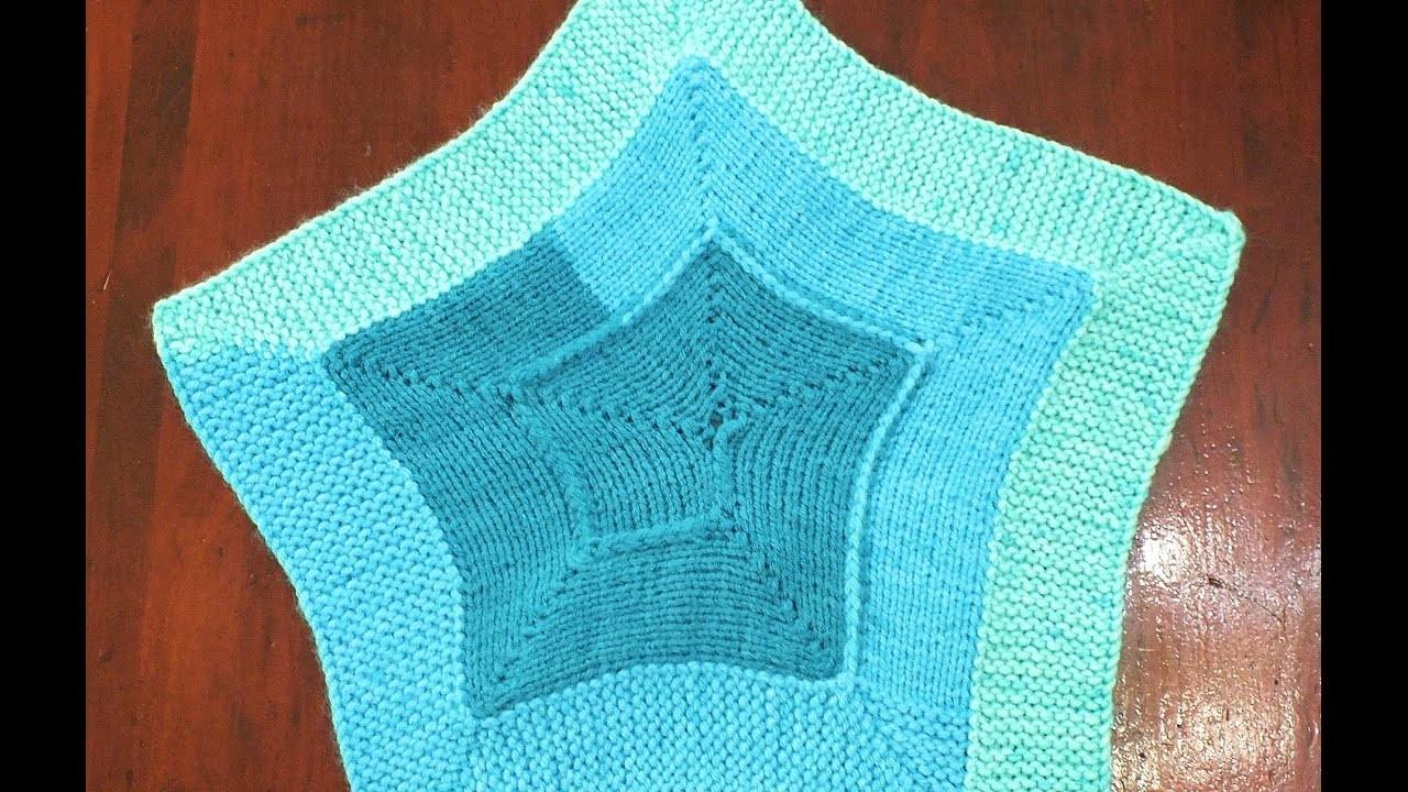 How to Loom Knit a 10 Stitch Star Blanket