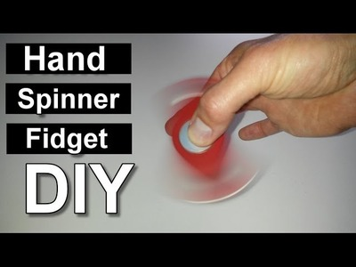 How to make a cheap Fidget Hand Spinner without Ball Bearing - DIY Homemade Fidget Toy. Selfmade