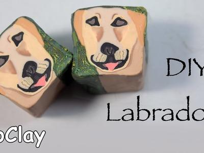 How to make a Labrador dog cane - DIY Polymer clay tutorial