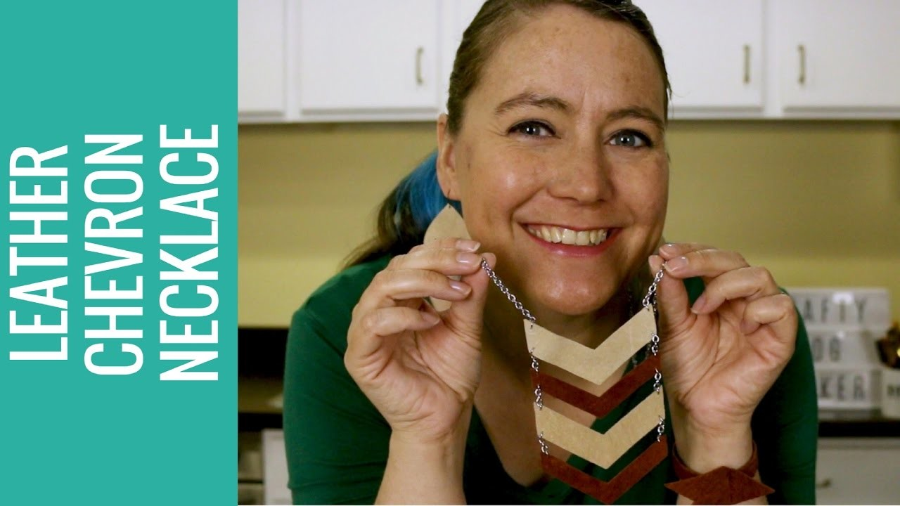 How to Make a Leather Chevron Necklace with Cricut Explore Tutorial Video