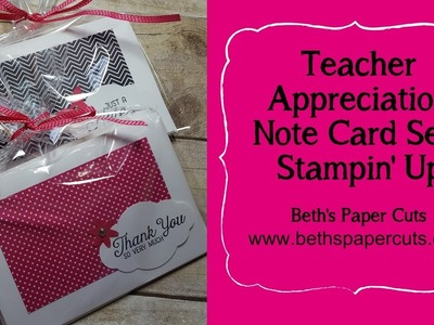 How to make a note card gift set ~ Beth's Paper Cuts