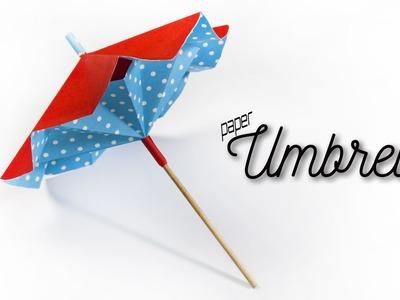How to make a paper umbrella that opens and closes ???? DIY Paper Umbrella