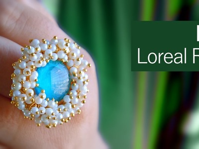 How to make a pearl ring from washer | DIY loreals ring | jewellery making