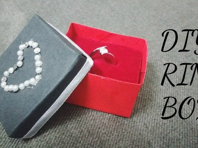 How to make a ring box   DIY tutorial  