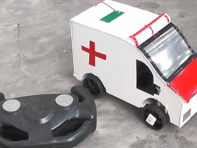 How to make amazing rc remote control ambulance car diy at home