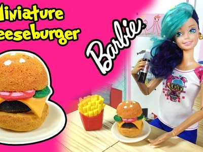 How to Make Barbie Doll Cheeseburger - DIY Easy Miniature Doll Crafts - Making Kids Toys