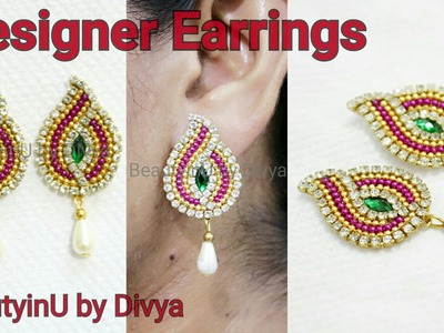 How to make Designer Earrings. Paper Earrings. DIY. Paper Jewellery making