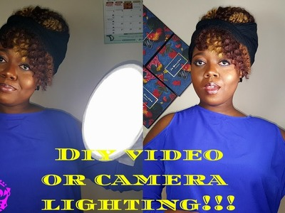 HOW TO: MAKE DIY YOUTUBE LIGHTING!