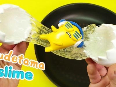 How To Make Gudetama DJ Egg Slime ! DIY Gudetama Clear Slime | MonsterKids