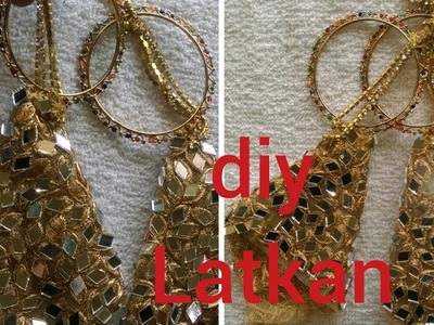 HOW TO MAKE LATKAN.TASSELS FOR INDIAN OUTFIT| DIY USING BANGLES|