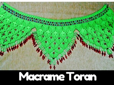 How to make Macrame Tutorial of Macrame Toran (Design- 4) | Macrame Art