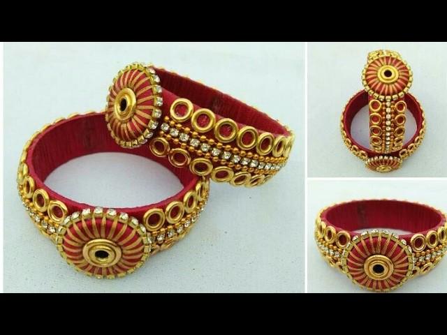 How To Make Silk Thread Bangles . DIY. Designer Silk Thread Bangles. Bridal Bangles
