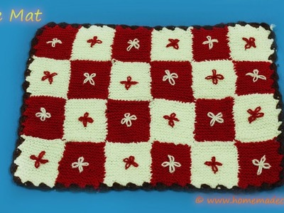 How to make Table Mat ׀ Knitting Mat ׀ Crochet Tutorial